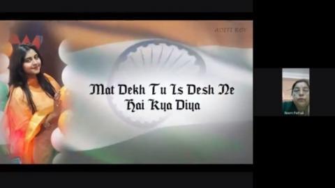 Patriotic Song Celebration' AAD Patriotic song 'Desh Hamara' by Aditi Ro