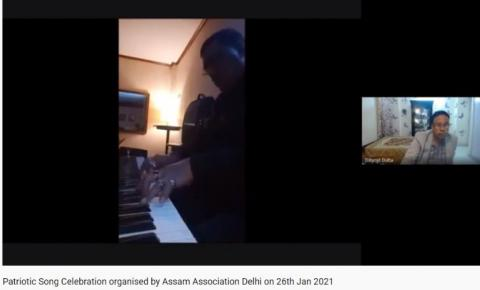 Patriotic Song Celebration' AAD Heart touching Patriotic TERI MITTI on PIANO INSTRUMENTAL by Neelutpal Hazarika(Gautam)