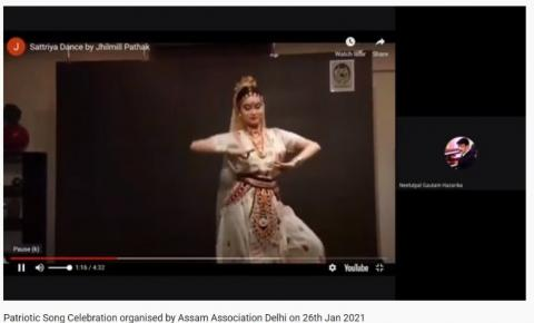 Patriotic Song Celebration' AAD Sattriya Dance by Jhilmill Pathak