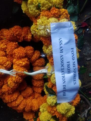 Assam Association Delhi ,  Tarun Gogoi , Condolence