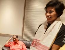 Lovelina Borgohain  with Dibyojit Dutta