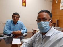 Raju Das with Dibyojit Dutta
