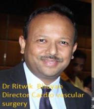 Dr Ritwick Raj Bhuyan  Director,  Cardiovascular Surgery and Minimal Access Heart Surgery,  FORTIS ESCORTS HEART INSTITUTE,  Okhala, New Delhi